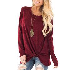 New Womens Tunic Tops Long Sleeve Casual Loose Tops Blouse Fashion Shirt T-Shirt