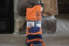 DAVID BITTON BUFFALO JEANS 4 PAIR CUFF SOCKS COMFY 6-12.5 SHOE SIZE BLUE,ORANGE