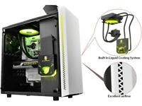 DEEPCOOL Gamer Storm BARONKASE LIQUID White ATX Mid Tower with 120mm AIO water c
