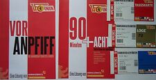 5 items Vor Anpfiff 90+Acht Min. VIP Tickets 2014/15 Union Berlin - FC St. Pauli