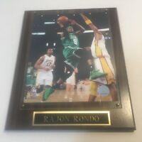 Rajon Rondo Layup - Boston Celtics #9 Wood Plaque 2010   #17 Andrew Bynum Lakers