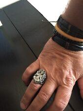 Baphomet Illuminati Goat Powerfull Icon Great Men Gift idea Sterling Silver Ring