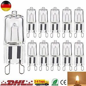 1x 10x G9 Halogen 25W/40W/60W 220V Warmweiß Leuchtmittel G9 Stiftsockellampe DE