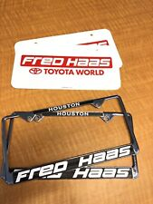 Fred haas licence Plate Frames