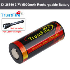 1pcs Trustfire 26650 5000mAh Protected Rechargeable Battery For LED Flashlight