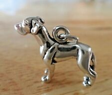 Sterling Silver 3D 16x21mm Detailed Great Dane Dog Charm