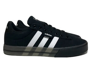 adidas Daily 3.0 Mens Size 8.5 Core Black And White Casual Skateboarding Shoes