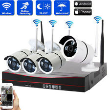 Wireless 4CH 1080P NVR Outdoor WIFI IR-CUT IP Network Camera Security System