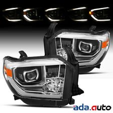 Fit 2014-2018 Toyota Tundra Chrome Projector w/LED DRL Headlights Pair
