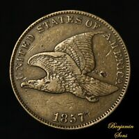 1857 FLYING EAGLE CENT 1c, 030221-05E Free shipping!
