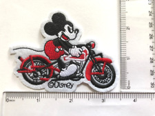 Disney Mickey mouse motorcycle Embroidered Iron On / Sew On Patch#1