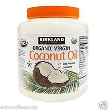 Kirkland Orgánico Aceite de coco virgen prensado en frío sin refinar 100% puro 2.38kg Bañera