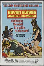 SEVEN SLAVES AGAINST THE WORLD orig movie poster GORDON MITCHELL/SCILLA GABEL