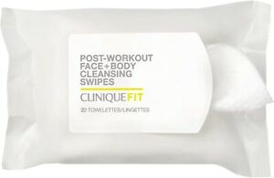 CliniqueFit Post-Workout Face + Body Cleansing Wipes Lot Of 2