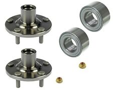 2 Front Wheel Hub Bearing Kits Fit Mazda Protege 4W Disc Brake, 5 Studs Hub Only