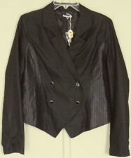DANGERFIELD Only Want To CROP JACKET  Black Blazer after5 TOP NEW! ~ Women sz 12