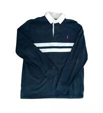 Vintage Polo Ralph Lauren Men's Long Sleeve Rugby Heavy Shirt M