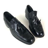 Florsheim Imperial Men's Dress Shoe Moc Toe Tassel Loafer Black Leather Size 5.5