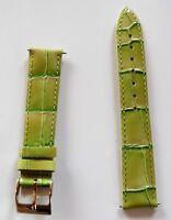 Neu hochwertiges Elysee Uhrenband Uhrenarmband Leder apfel grün 18mm E94