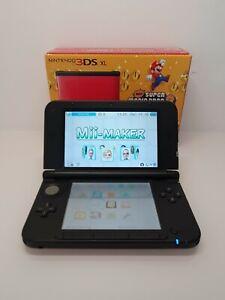 Nintendo 3DS XL Rot Schwarz OVP/4GB/Ladekabel Bitte Beschreibung lesen