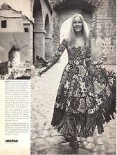 Vintage advertising print 1971 fashion Spain Pedro Rovira Barcelona dress fringe