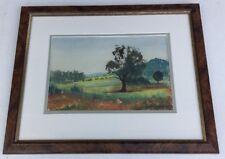 Framed Watercolour Landscape