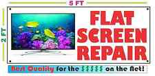 FLAT SCREEN REPAIR Full Color Banner Sign NEW XXL Size Best Quality for the $ TV