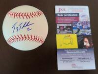 Troy Tulowitzki Signed Auto OML Baseball Autographed JSA COA Rockies Yankees