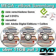 11,5 GB ebooks MEGASAMMLUNG auf 3 DVD's ebook NEU Sammlung für PC Reader etc.