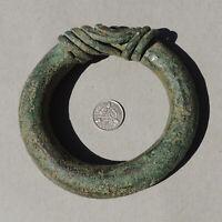 an ancient african bronze bracelet djenne mali sub sahara #170
