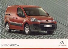 Citroen Berlingo Van 2009-11 UK Market Sales Brochure L1 L2 Crew Van Platform