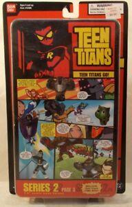 "Teen Titans Go! 1.5"" Comic Book Heros Series 2 Page 3 Cyborg Raven (MOC)"
