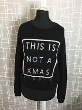 River Island This Is Not A Christmas Jumper Alpaca Wool Slouch Sweater Xmas 10