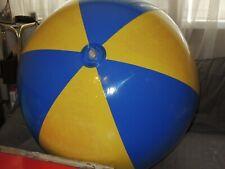 Großer BLAU GELBER Wasserball inflatable Beach Ball 36