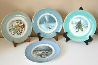 Lot of 4 Avon Wedgwood Signed Christmas Plates '76, '78, '79, '80 One in Box