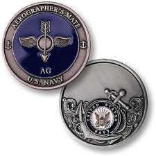 US Navy Aerographer's Mate Challenge Coin AG Rating Rate USN Weather Forecasters