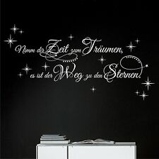 Wall Tattoo Take Your Time for Dreams Stars Saying Wall Tattoo Good Night 6 X