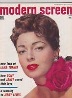 JUNE 1954 --- MODERN SCREEN vintage movie collectors magazine - LANA TURNER