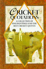 Cricket Quotations (Quotation Book), , Very Good Book