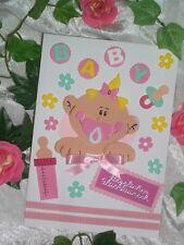 Farbkleckstiger Baby Collection XL Glückwunschkarte Karte Taufe Geburt Mädchen