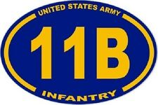 3 X 4.5 OVAL UNITED STATES ARMY 11B INFANTRY STICKER