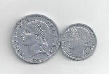 2 OLDER COINS from FRANCE - 1 & 5 FRANCS (BOTH 1949)