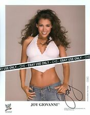 Joy Giovanni Very Sexy! Signed Color 8x10 Photo Wwe Wrestling Diva!