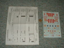 Microscale decals HO 87-647 Xtra 48' containers Santa Fe CSX versions  F120