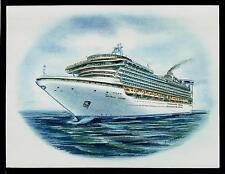 Original Art Work...m/s CARIBBEAN  PRINCESS ..cruise ship....Princess cruises