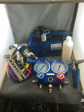 NEW VACUUM PUMP, MANIFOLD GAUGE, RATCHED FLARING ,PIPE CUTTER ,PIPE EXPANDER
