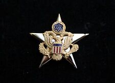 US Army Officer Branch of Service General Staff Collar HAT Pin REGULATION USA