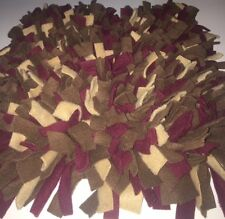Handmade Brown/Tan/Burgundy Dog/Pig Snuffle Mat/Training Feeding Mats 36x24