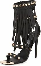 IVY KIRZHNER  STUD AND FRINGE SANDALS HEELS NIB NEW 8 $695
