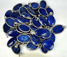 Lapis Lazuli Gemstone 5pcs Pendant 925 Silver Overlay Wholesale Lot WH-6